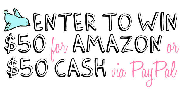 Giveaway | $50 Amazon Gift Card or $50 Cash