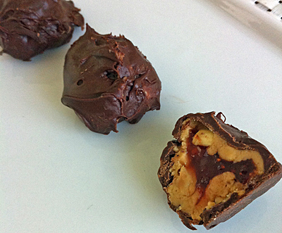 Cheap + Easy | Peanut Butter and Jelly Truffles [Guest Post on Being Alison]