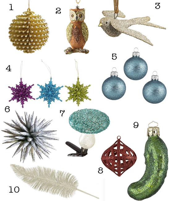 Glittery Christmas Ornaments