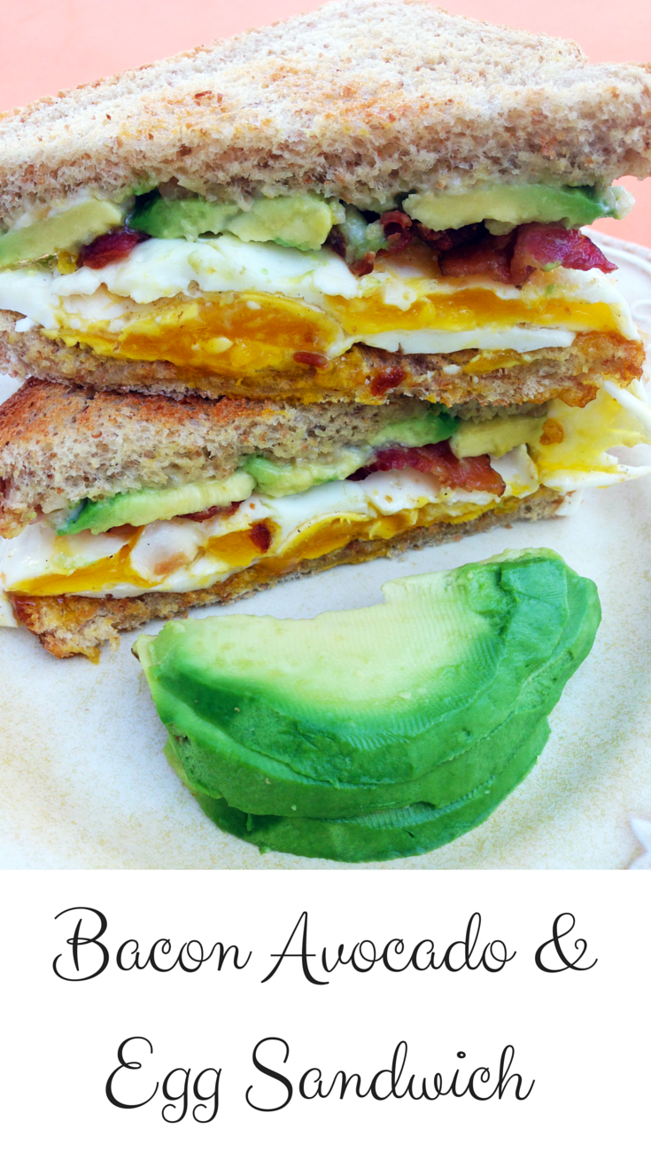 Bacon Avocado and Egg Sandwich - This is a delicious, quick, and easy recipe with a bold fresh flavor.