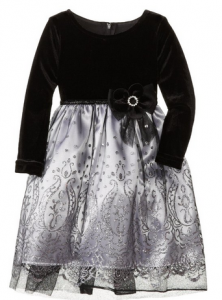 Black & Silver Organza Dress