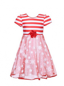 Candy Cane Striped Holiday Dress