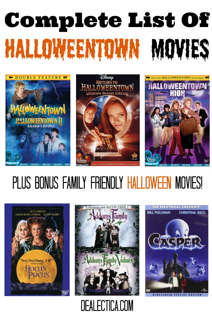 complete list of halloweentown moviesjpg