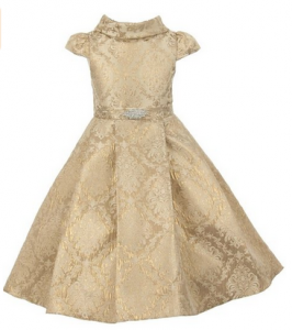 Gold Brocade Holiday Dress