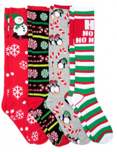 Knee High Christmas Socks