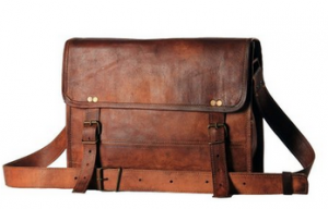 Leather Messenger or Laptop Bag