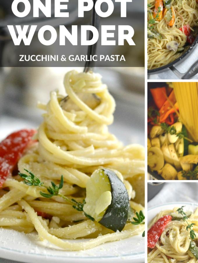 One Pot Wonder Zucchini and Garlic Pasta