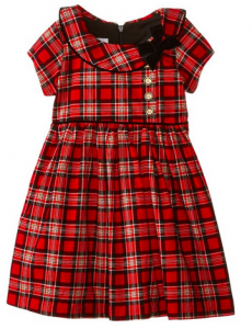 Tartan Plaid Corduroy Dress