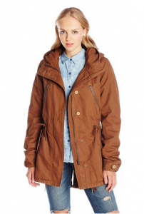 Volcom Brown Parka Jacket